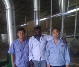 Gabon 100Tons/day Input Cassava Flour Processing Line