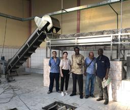 Cameroon 500Kgs/hour Output Cassava Flour Processing Machine